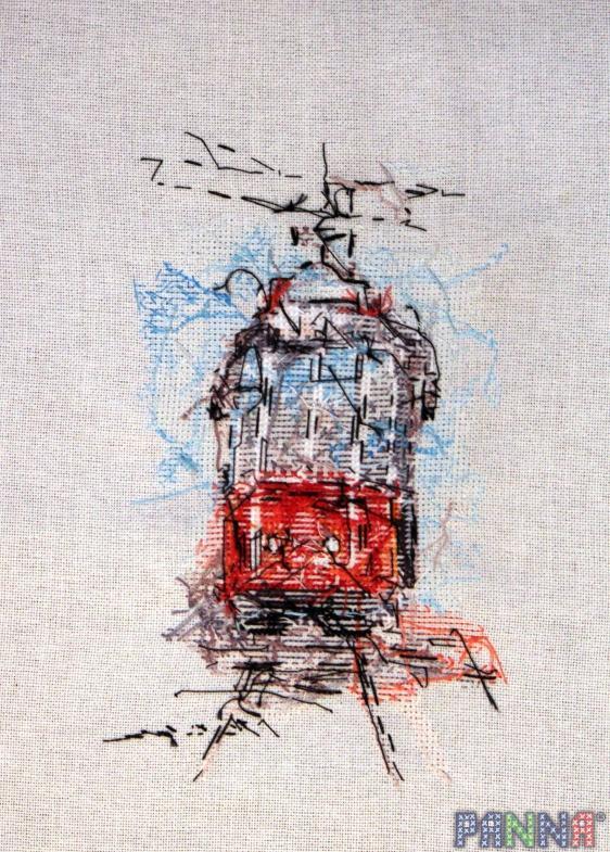 Вышивка городской трамвай схема 60