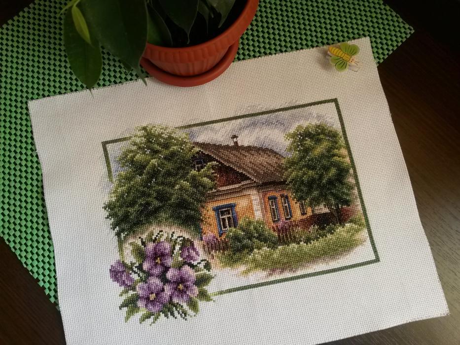 Моя деревня вышивка лето 599