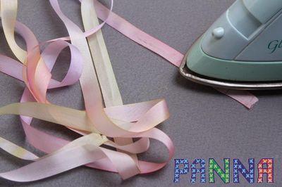 Чем красить ленты для вышивки 8
