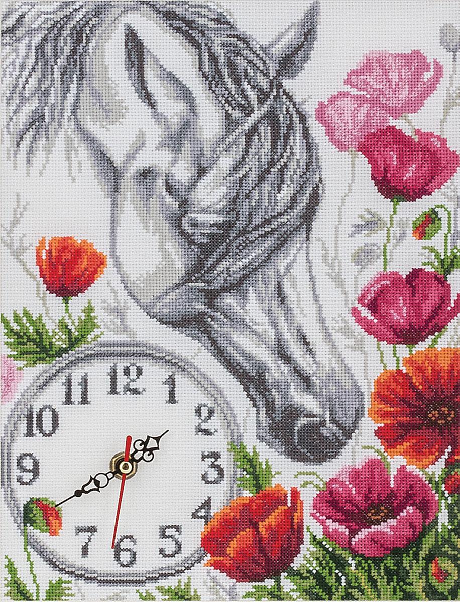 Часы. Лошадь в маках