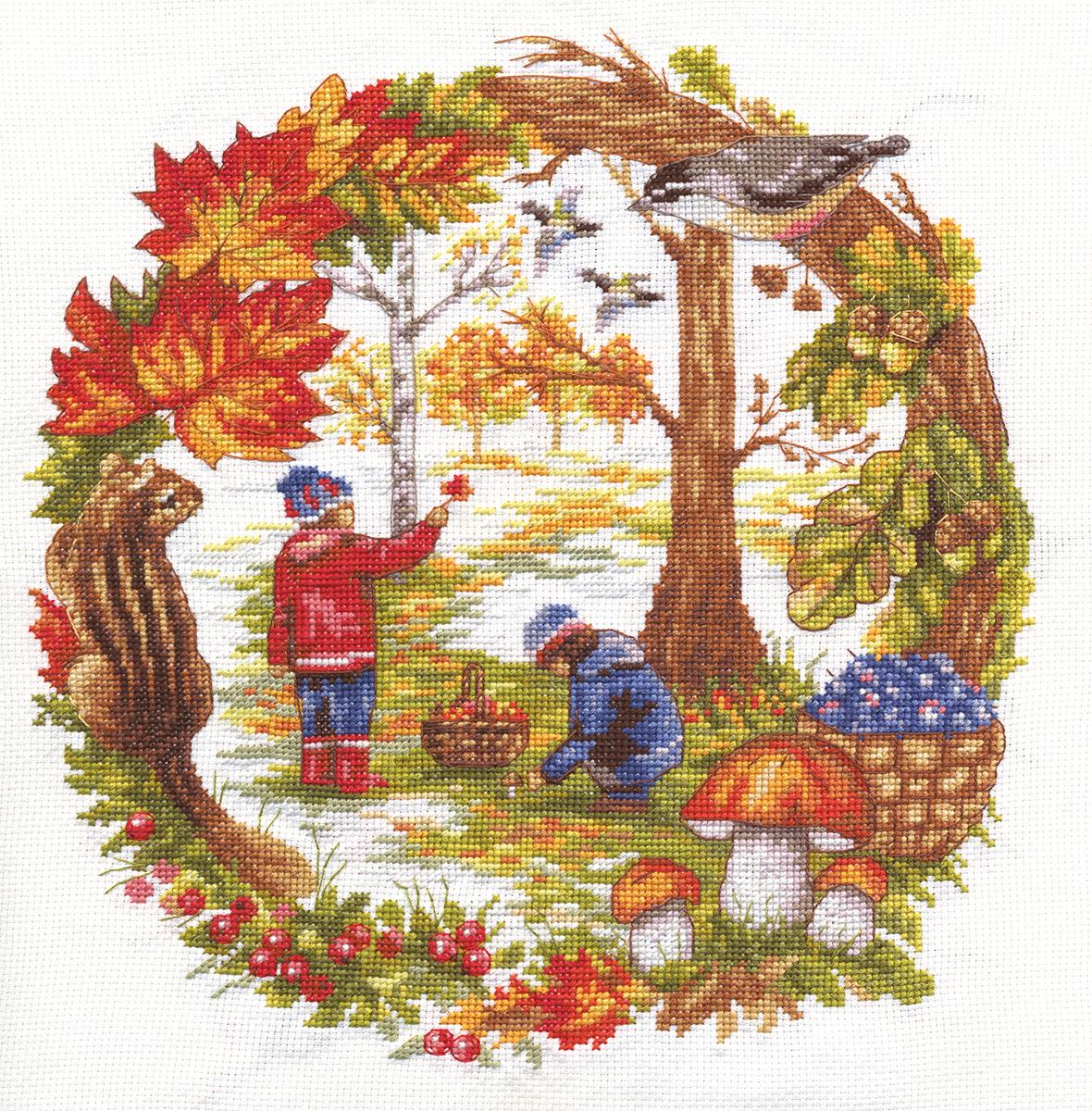 Набор для вышивания Panna Д-1390 Осенние хлопоты
