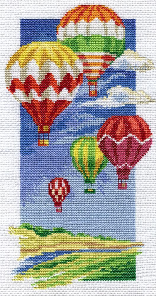 Размер вышивки: 90х165 кр. Набор для вышивания Воздушные шары, PANNA ПР-0531 купить в санкт петербурге Шале...