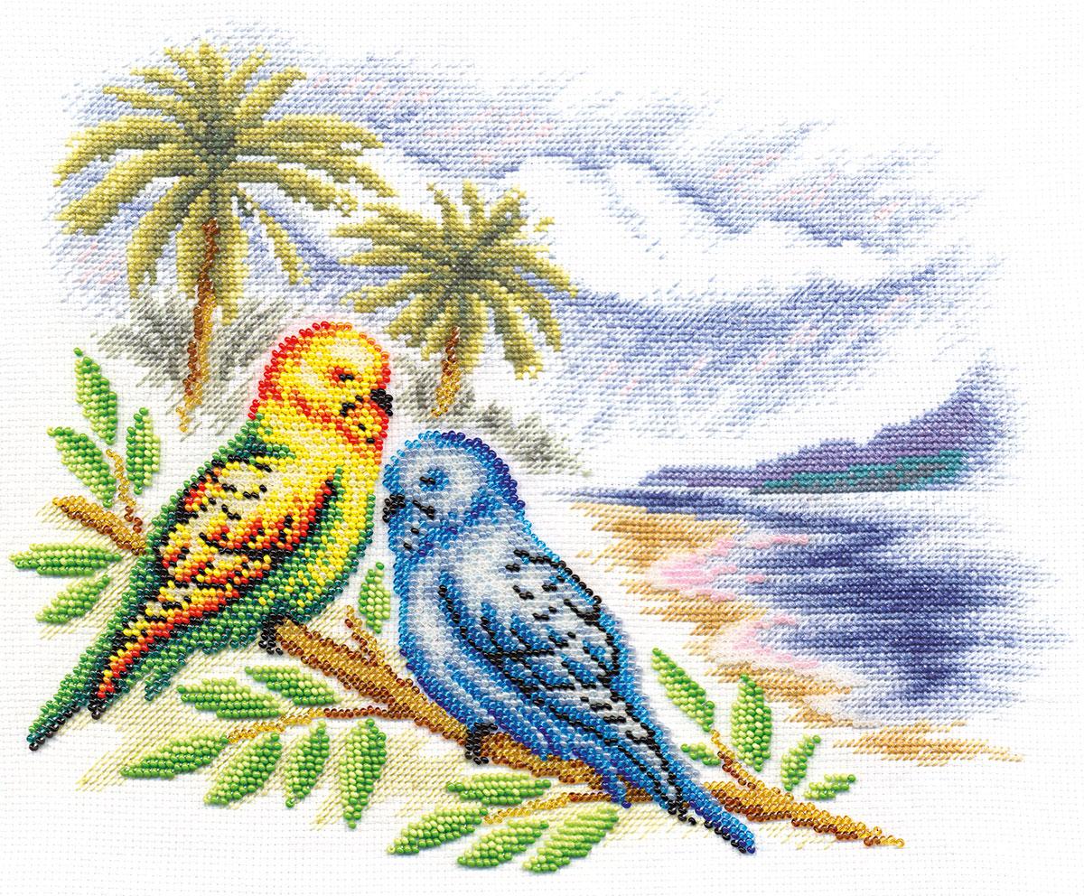 Набор для вышивания Panna ПТ-0856 Волнистые попугайчики