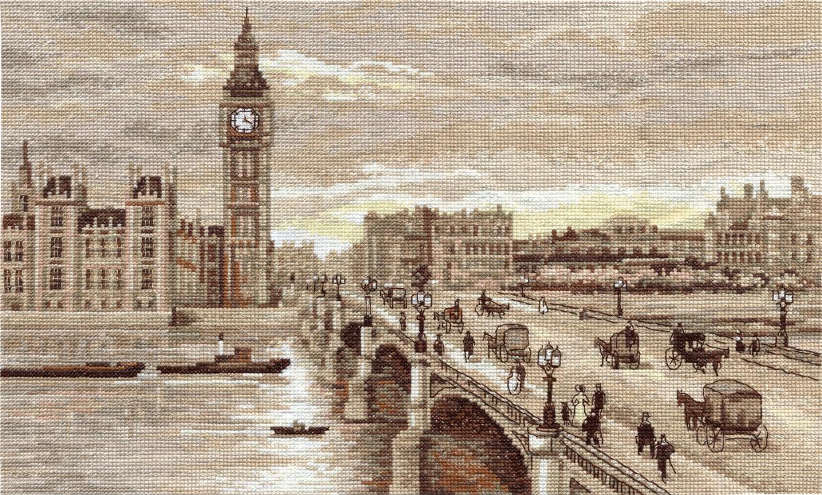 Набор для вышивания Panna Золотая серия ГМ-1254 Лондон. Вестминстерский мост