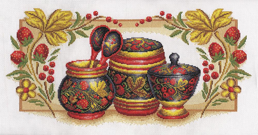 Вышитые картины, изделия из бисера и бусин, вязанные изделия, купить вышивку Хохлома, Panna НХ-311.