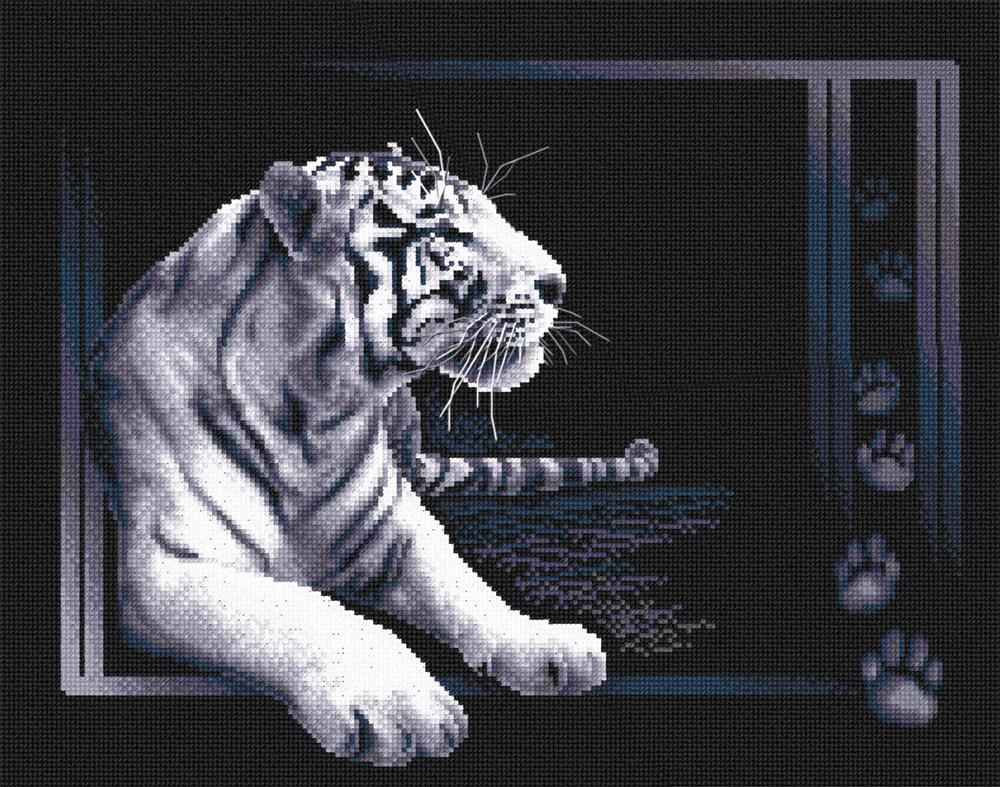 Вышивка крестом схемы белый тигр скачать бесплатно