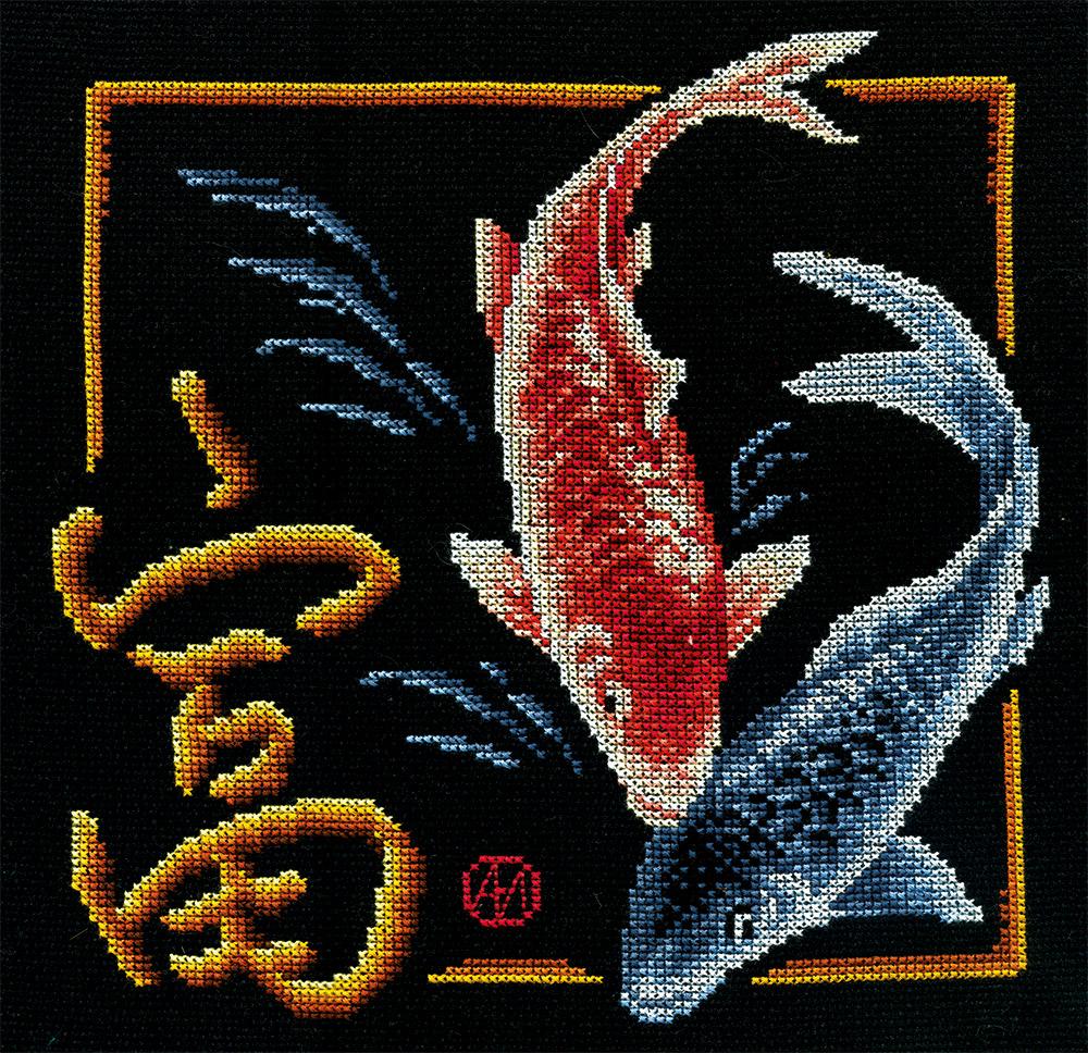 Иероглиф исполнение желаний вышивка