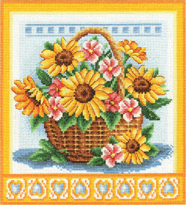Ц-1093 Корзинка с цветами