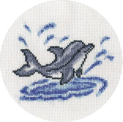 Вышивка Крестом Схемы Морская Тематика Дельфины