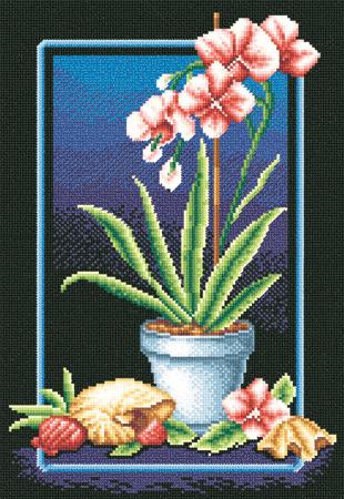 """Набор для вышивания  """"Великолепные орхидеи """" * Техника: счетный крест * Артикул: Ц-0223 * Размер: 21,5 х 32..."""