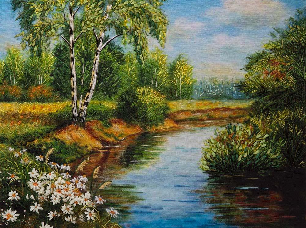 Картина дача лето дом пейзаж johan krouthen деревня