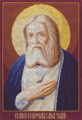 Вышивка крестом иконы серафима саровского 24