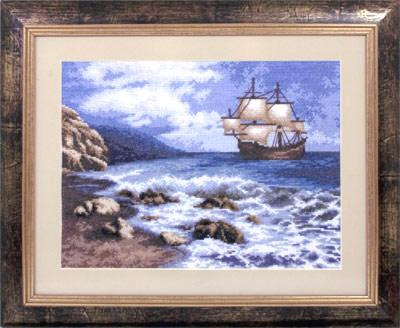 Набор для вышивания корабль море