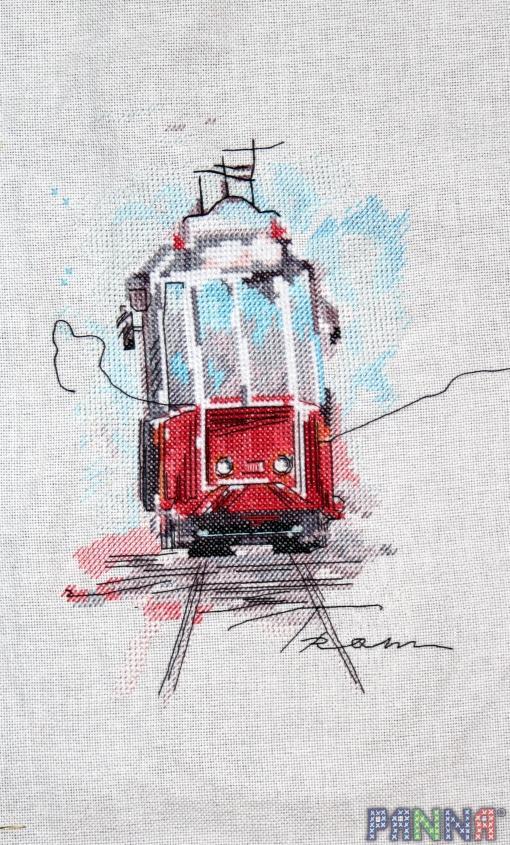Вышивка панна трамвай