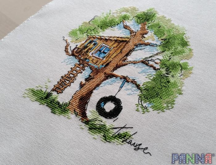 Схема вышивки дома панна
