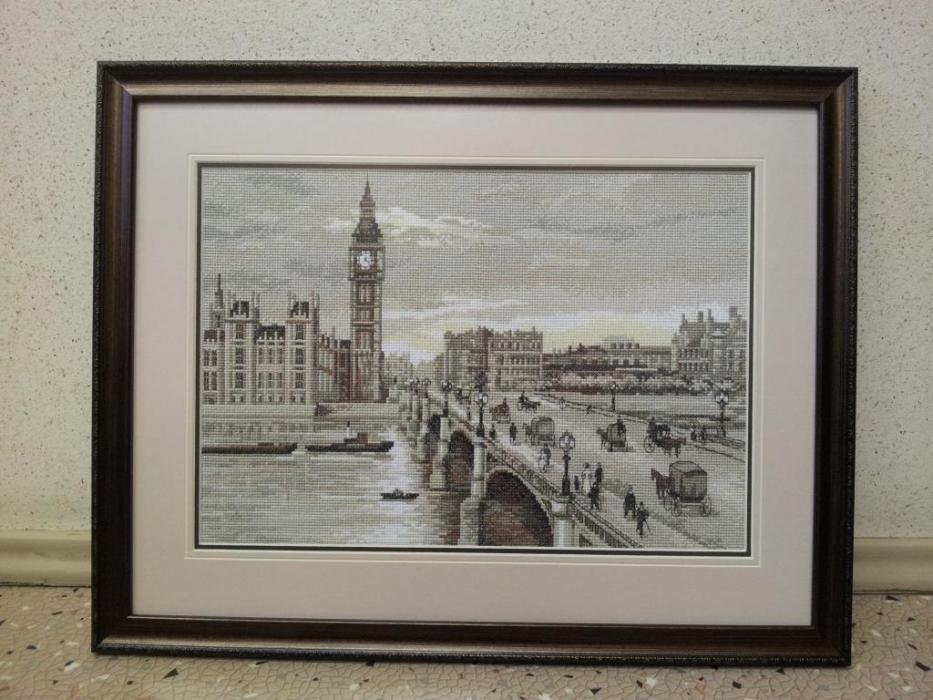 Вестминстерский мост вышивка
