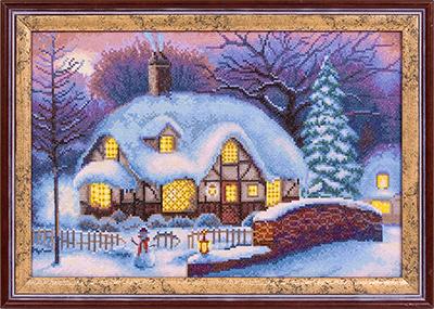 Зима вышивка крестом наборы
