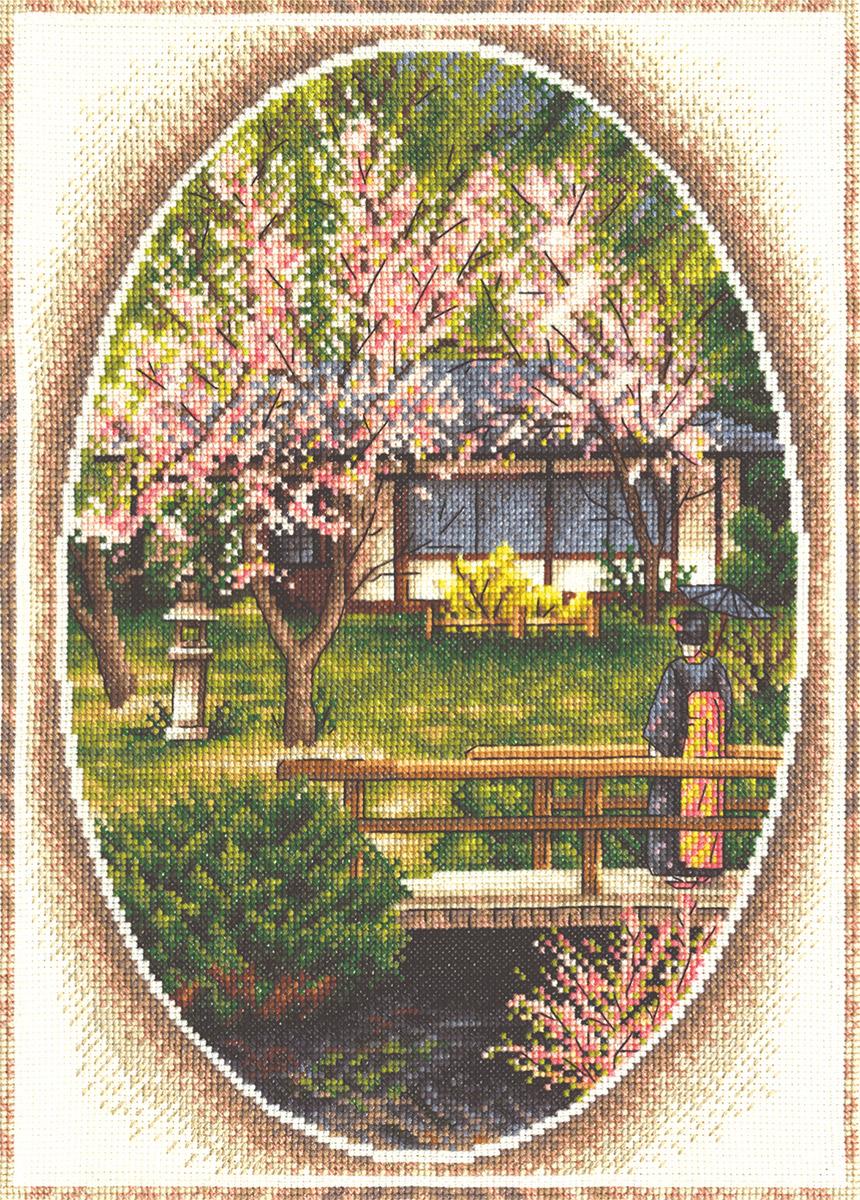 Вышивка крестом садик схема