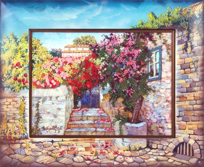 живая картина греческий дворик