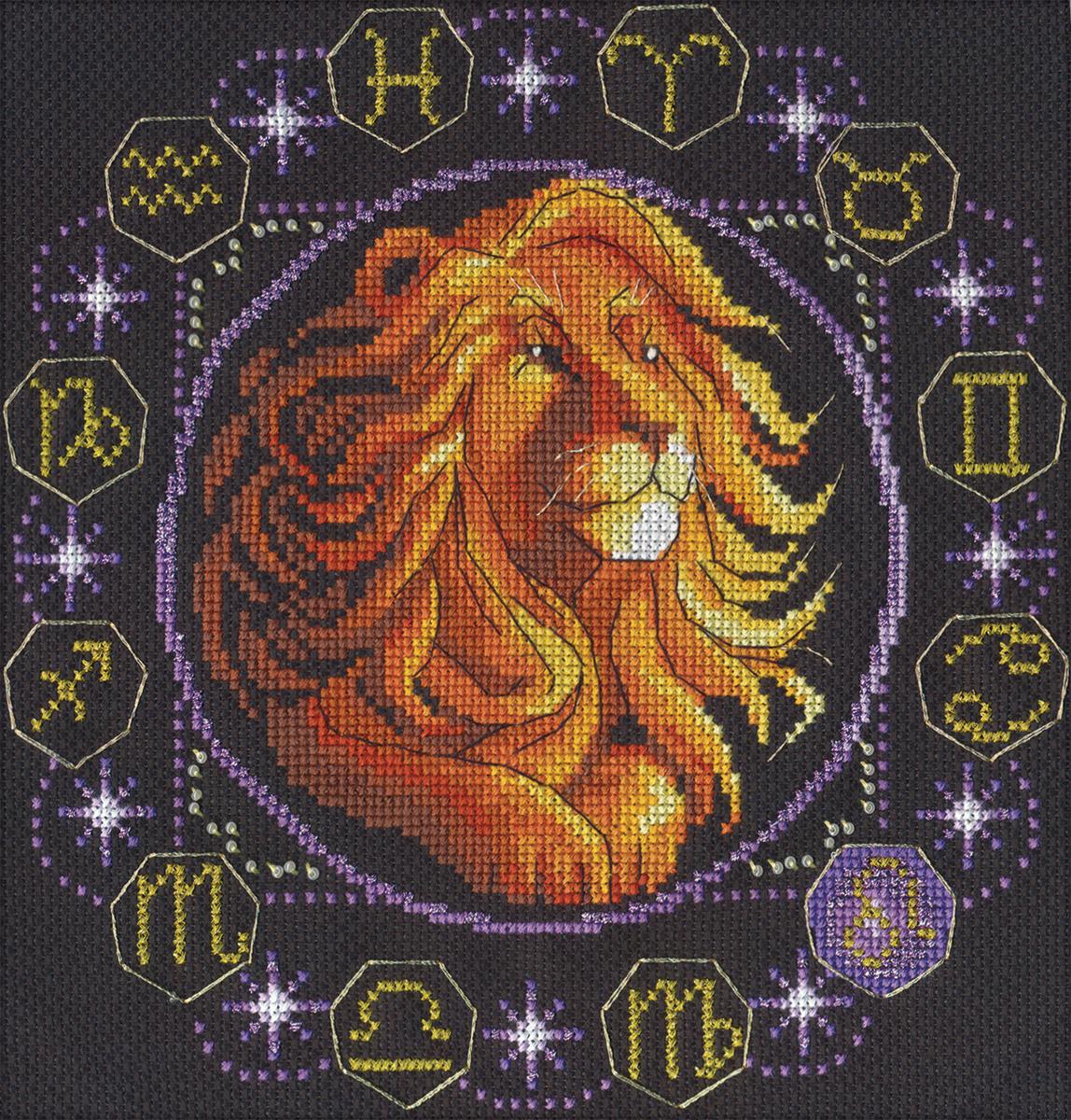 Вышивка крестом знак зодиака лев