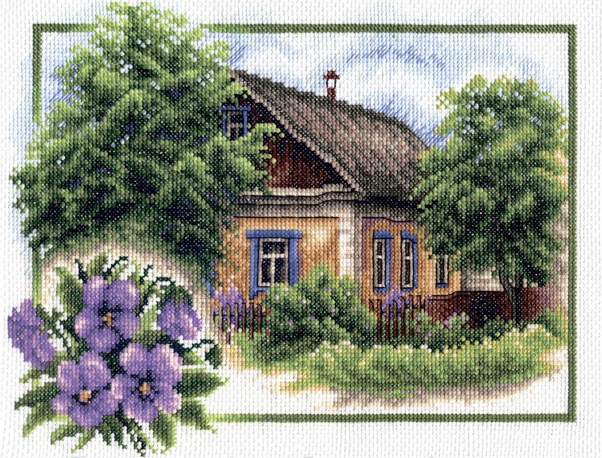 Деревенские мотивы вышивка схема