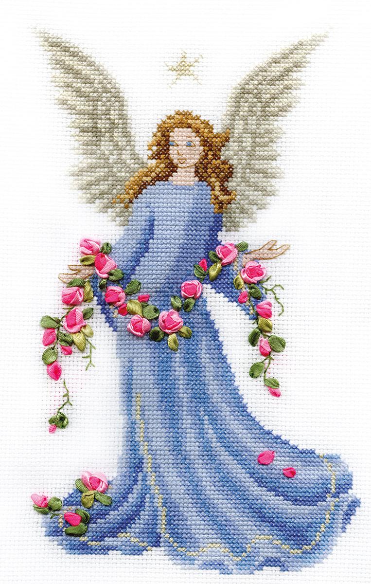 Вышивка крестом картина ангел