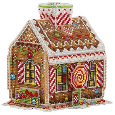 Схема вышивка крестом домики пряничные