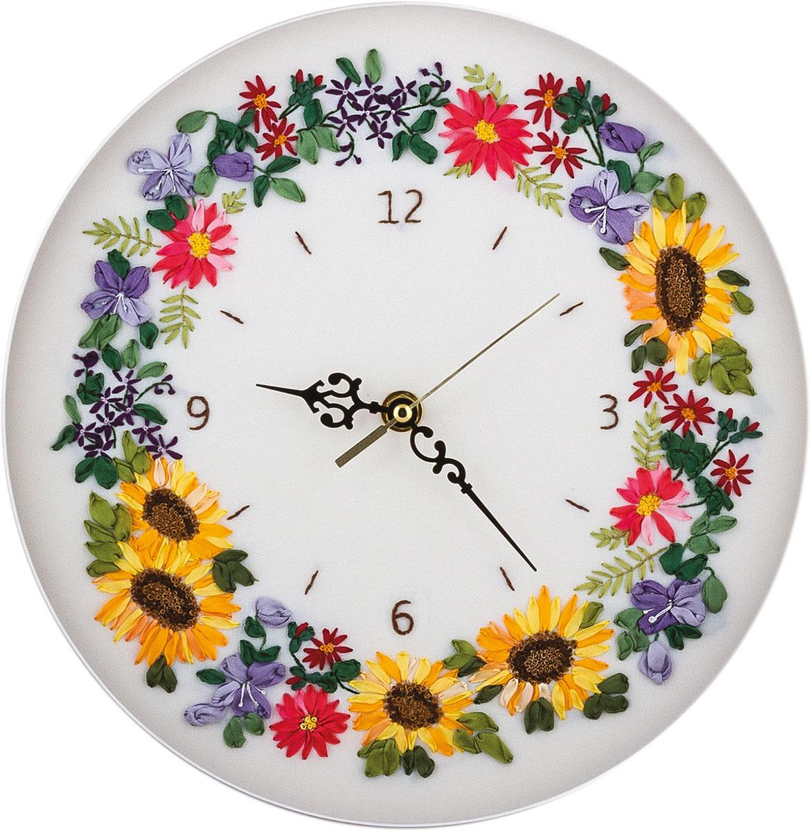 Вышивка крестом часы с механизмом схема