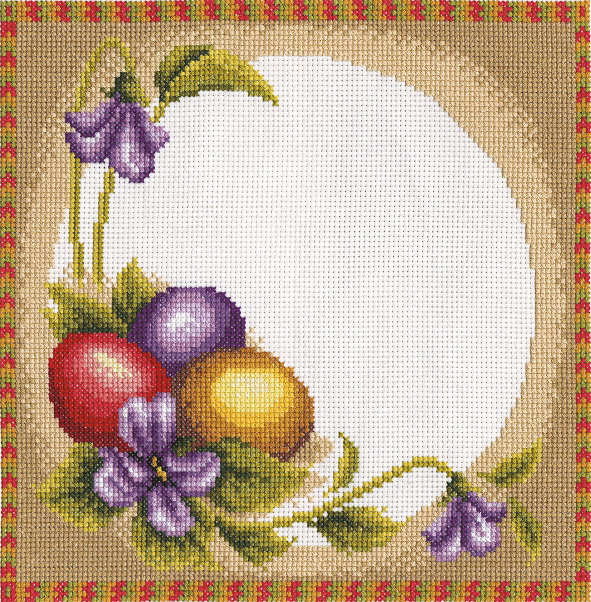 Вышивки крестом пасхальных салфеток