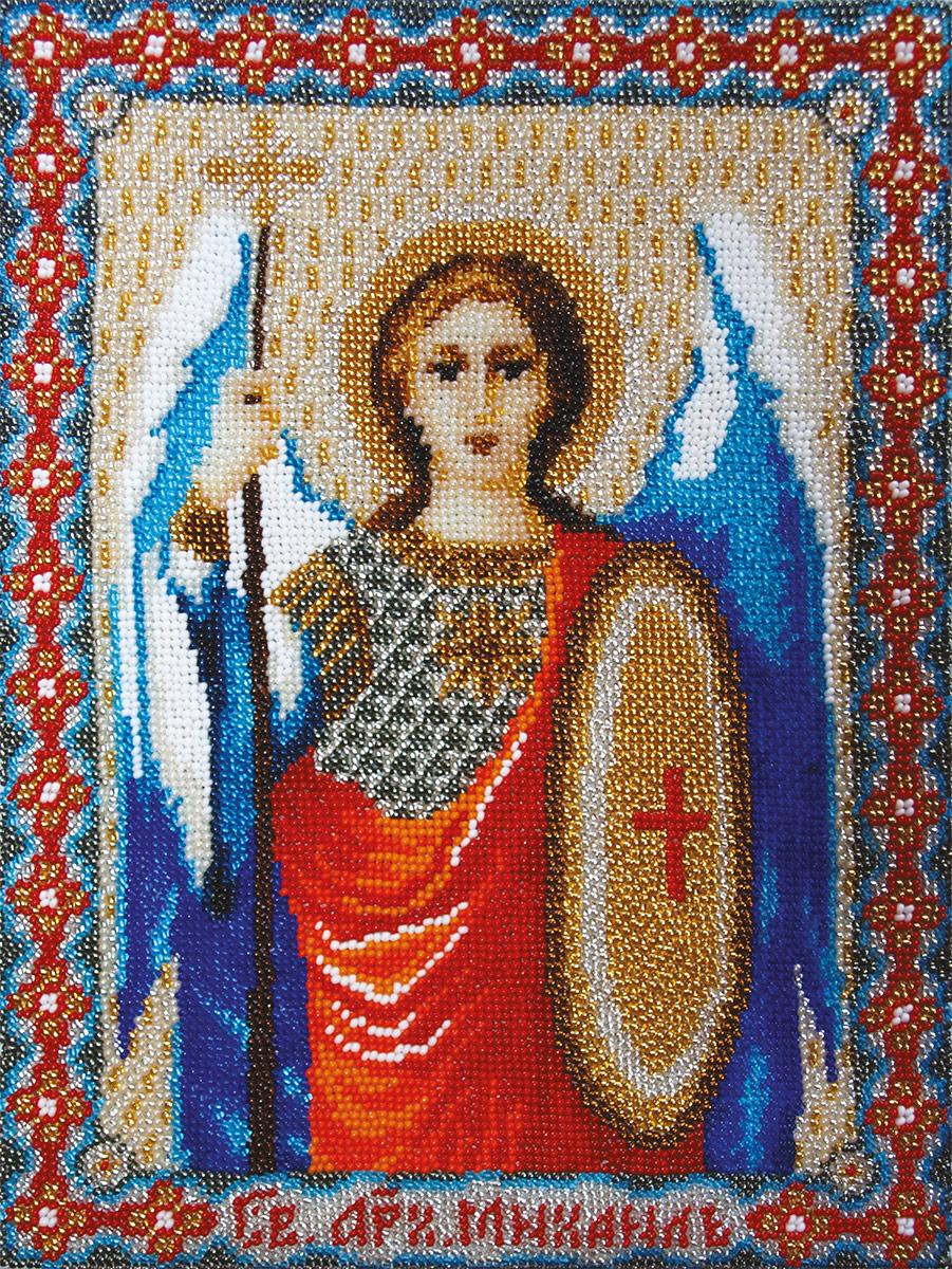 Вышивка бисером иконы архангела михаила