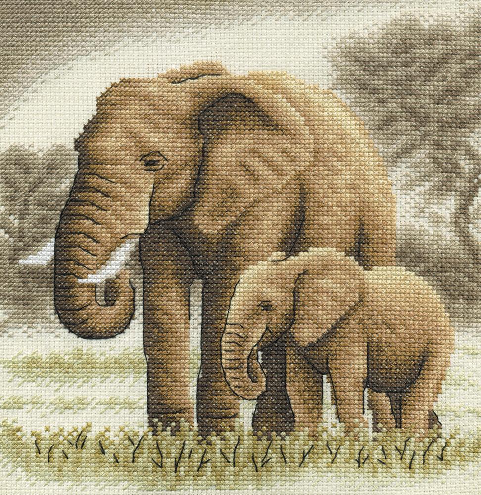 Вышивка крестом купить набор слон