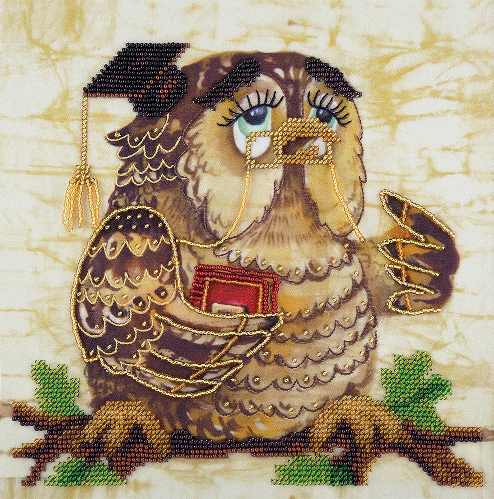 Мудрая сова в вышивке крестом для начинающих