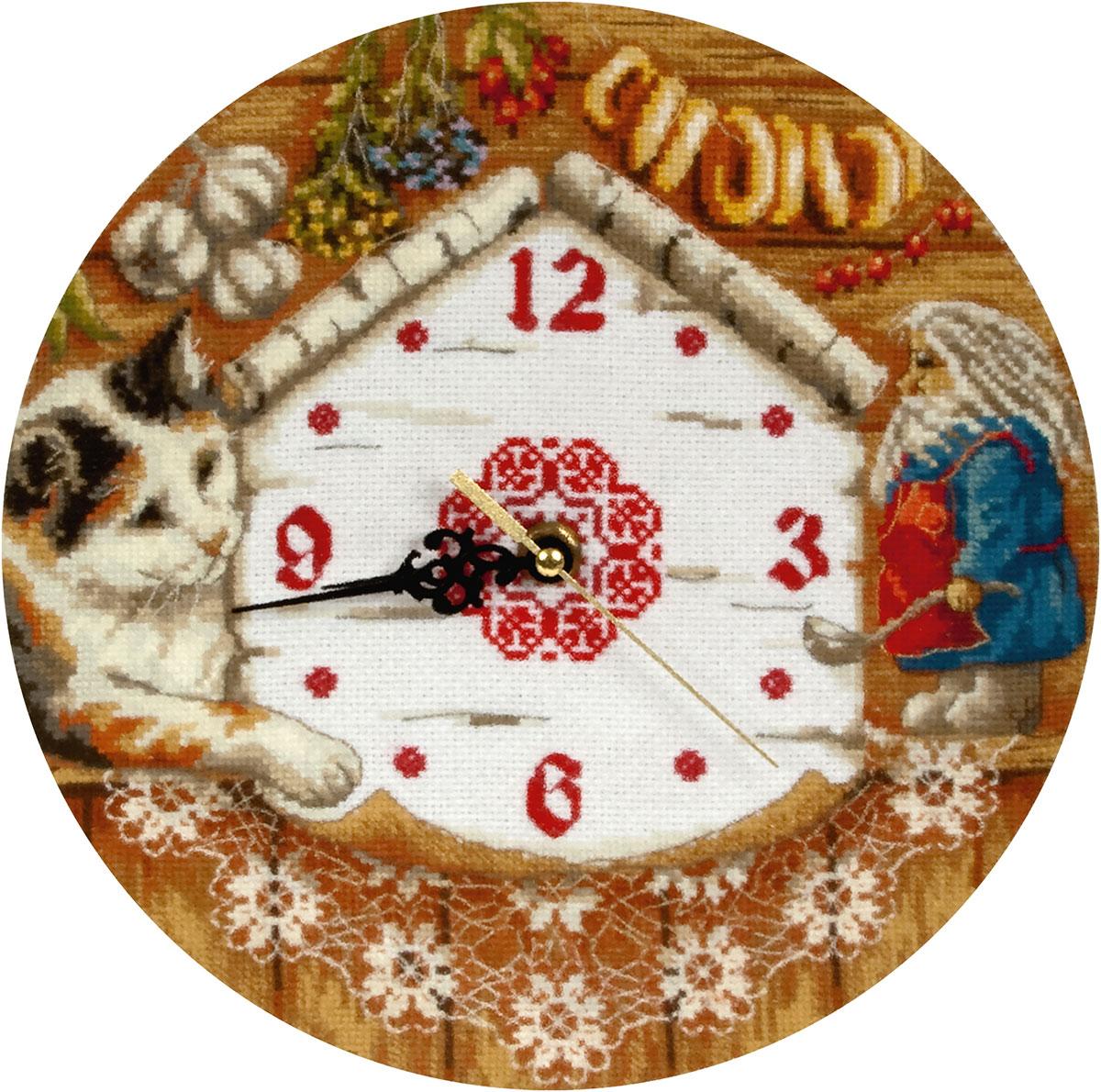 Часы вышивка крестом схемы с механизмом